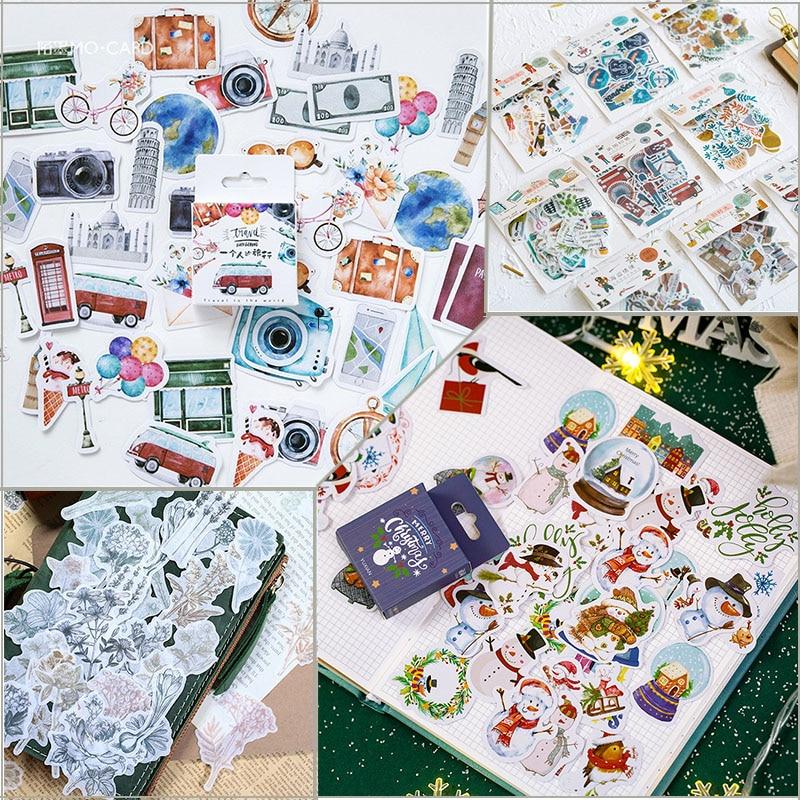50pcs Stickers Set Merry Christmas Gift Summer Sea Bullet Journal