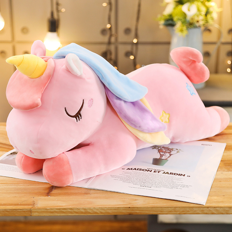 Sexy New Huggable 40-100CM Kawaii Cartoon unicorn Lovely plush toys pink doll children gift toy kawaii unicorn toy  - buy with discount