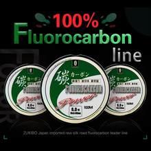 Brand 100% Fluorocarbon Fishing Lure Line 100M Fishing Line Japan Carbon Fiber Leader Fly Fishing Line Super Soft Line Pesca