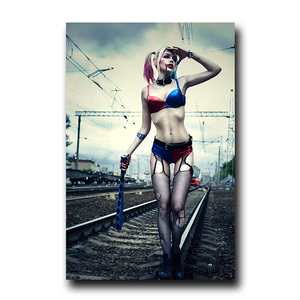 Harley Quinn кино плакаты и принты Джокер Женская Картина на холсте Настенная картина для гостиной Декор