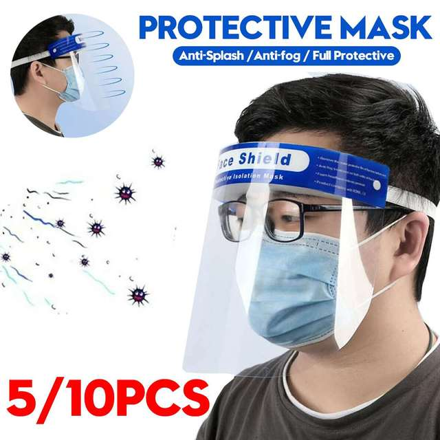 Transparent Protective Mask Full face shield Masks Particulate Respirator Protective Visor Anti Saliva Transmission Face Masks