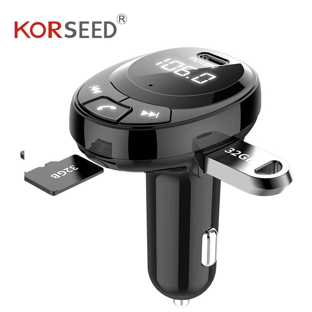 Transmisor FM Bluetooth カーキット、カー用品、 mp3 音楽プレーヤー、 bluetooth レシーバー、車の充電器急速充電、音声放送