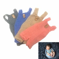 Newborn Infant Baby Boys Girls Knitted Photography Props Romper Clothing Outfits