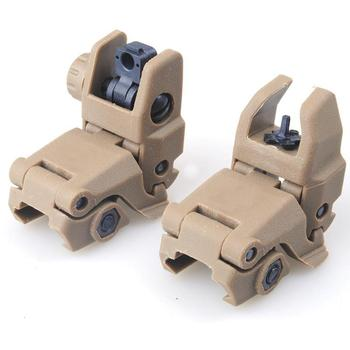 Tactical Folding Front Rear Sight Flip Up Backup Sights BuiS Set Hunting Accessories 5