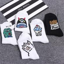 Fashion casual high quality kids socks cute elegant beautiful cartoon Harajuku cotton sock for men women