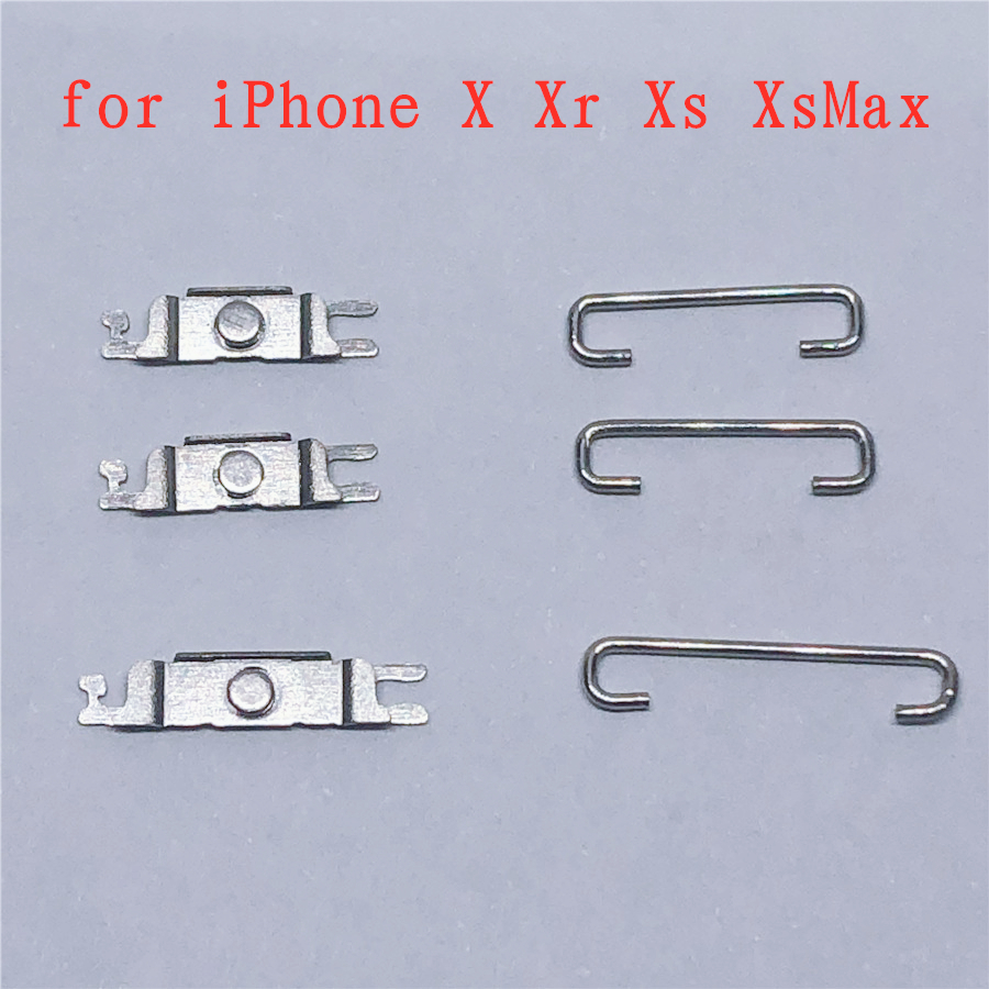 Original Power And Volume Button Side Keys Bracket With Iron Hook For IPhone X Xs Xr Xs Max, 20 Set/Lots