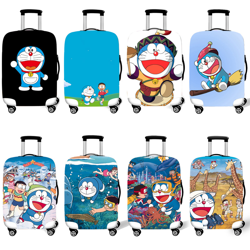 Elastic Luggage Protective Cover Case For Suitcase Protective Cover Trolley Cases Covers 3D Travel Accessories Doraemon Pattern