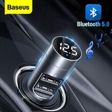 Baseus Fm-zender Auto Draadloze Bluetooth 5.0 Fm Radio Modulator Carkit 3.1A Usb Car Charger Handsfree Aux Audio MP3 speler