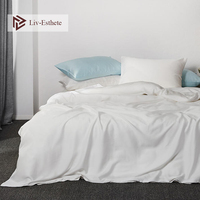 Liv Esthete 100% Silk Noble White Beauty Bedding Set Silky Healthy Purple Duvet Cover Flat Sheet Pillowcase Queen King Bed Linen