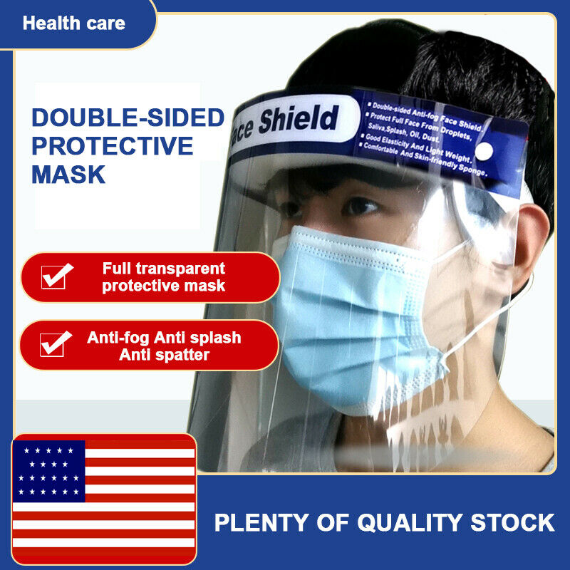 Safety Face Shield With Clear Flip-Up Visor Shop Garden Industry Dental Medical Full Face Shield Adjustable Mask