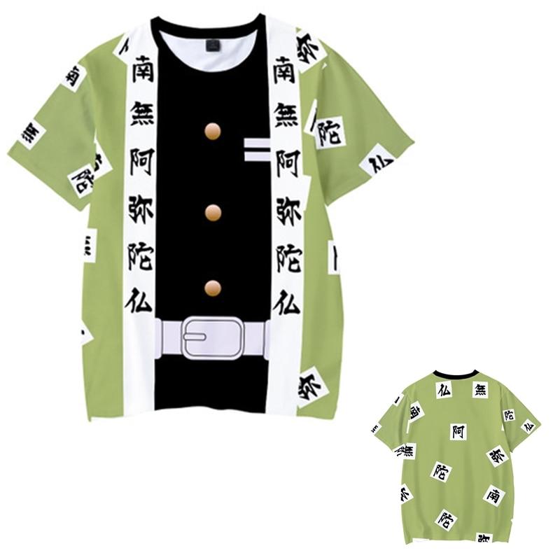 Kids Boys Devils killer T-shirts 3d Print Cosplay Japanese Ghost blade Children Summer Short Sleeve Tshirts Demon Slayer Clothes 2