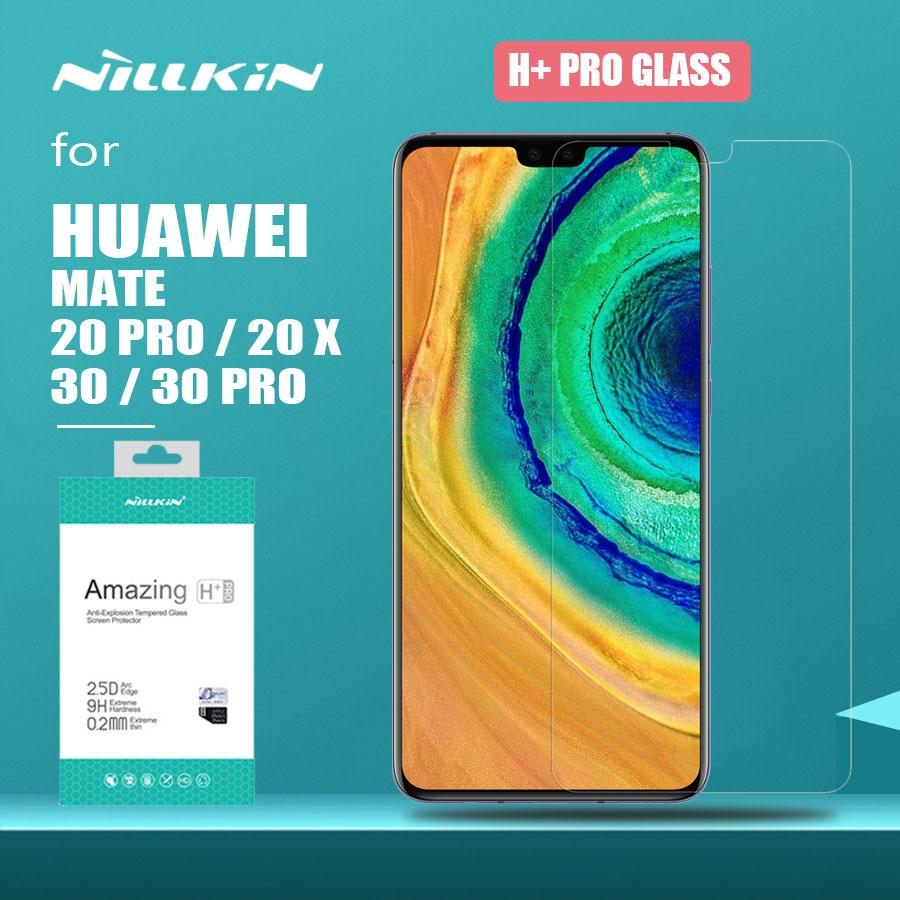 Nillkin para huawei companheiro 30 pro 20 x vidro h + pro vidro temperado mate 20x protetor de tela para huawei companheiro 30 pro 20 x 2.5d vidro