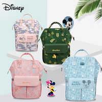 Сумка для подгузников Disney с Микки-Маусом и Usb, многофункциональная сумка для детских колясок, модная сумка для подгузников для мам и мам, бол...