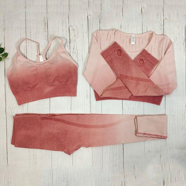 3Pcs Gradient pink