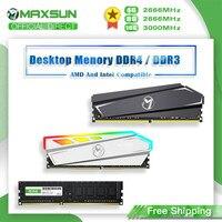 MAXSUN-Memoria RAM DDR4, 4GB, 8GB, 16GB, DDR3, 1600, 2666, 3200MHz, Dimm, DDR4, RGB, con disipador de calor