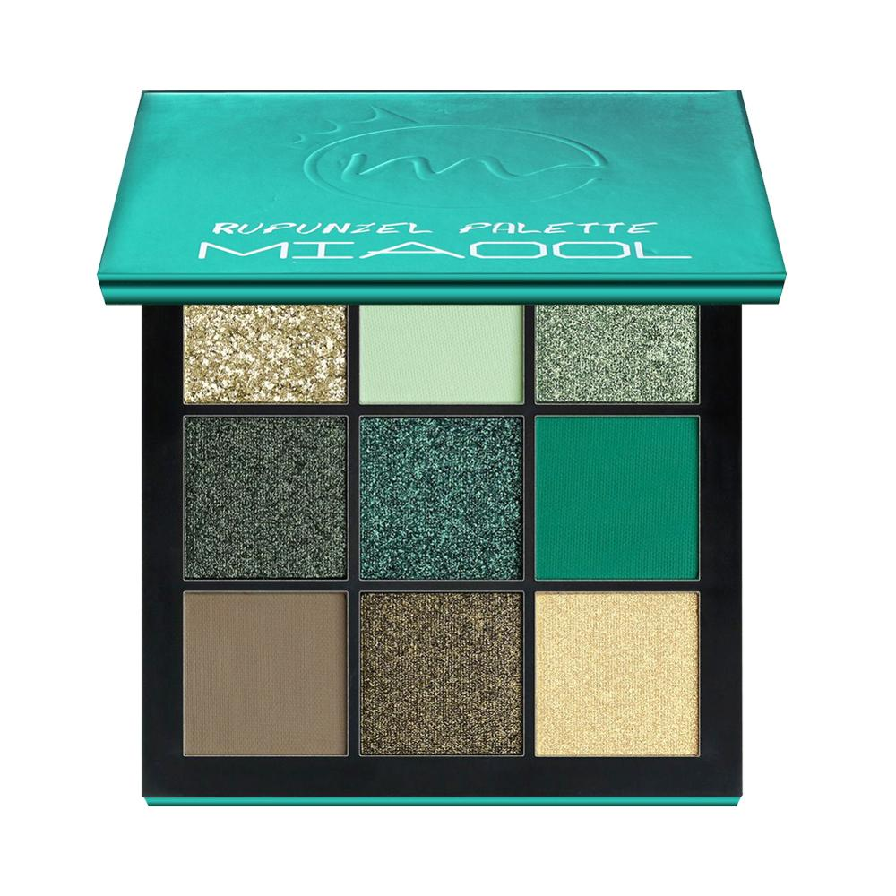 MIAOOL Beauty Precious Stone Mini Eyeshadow Palette 9 Colors Obsessions Palette Emerald Makeup Eye Shadow in Eye Shadow from Beauty Health