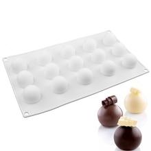 1PCS Silicone 15 Cavities Round Ball Shaped Mini Truffle Mold For Non-Stick Baking Cupcake Dessert Birthday Cake Decorating Tool