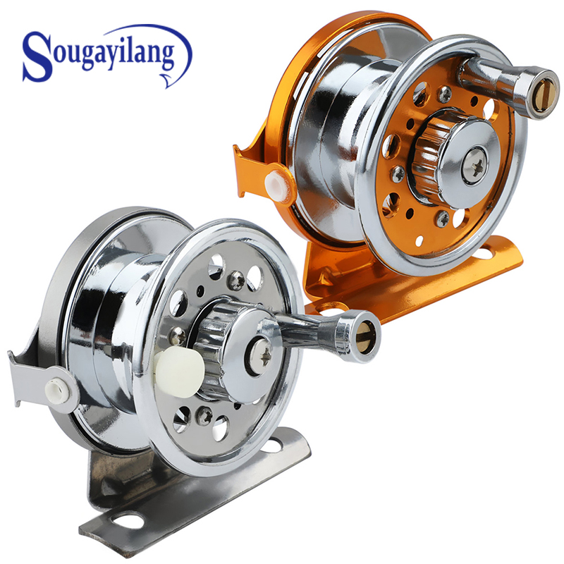 Sougayilang High Quality Ultralight Weight  Ice Fishing Reel Portable  Raft Ice Spinning Travel Boat Fishing Tackle Gear