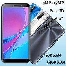Smartphone Y8p, Android libre, Quad Core, 4GB RAM, 64GB ROM, pantalla de 6,0