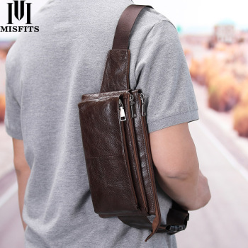 pu leather men waist pack fanny pack bum belt bag high quality zipper waist bag solid chest bag for men men pouch pochetes bolso MISFITS cow leather waist bag for men travel waist pack vintage small fanny pack male belt pouch bag casual cell phone chest bag