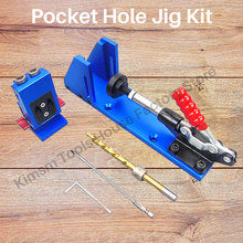 Jig-Kit Woodworking Pocket-Hole Allen Wrench Screwdriver Drill-Bit for with Dual-Purpose