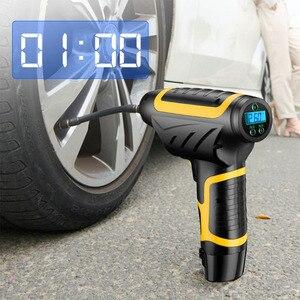 Image 1 - Auto handheld wireless luftpumpe smart digital display auto auto luftpumpe reifen tragbare abnehmbare batterie