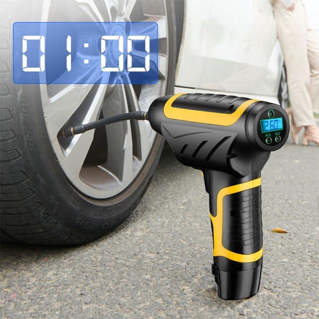 Auto handheld wireless luftpumpe smart digital display auto auto luftpumpe reifen tragbare abnehmbare batterie