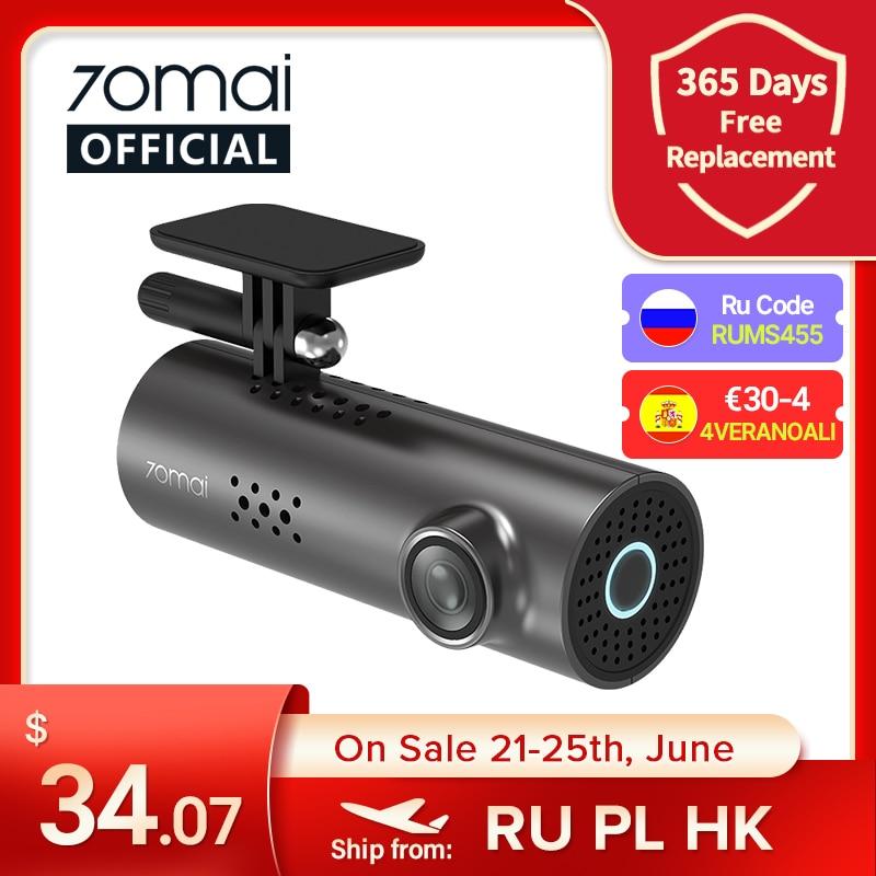 VSEVAM455 70mai Автомобильный видеорегистратор 1S приложение и английское Голосовое управление 70mai 1S 1080P HD ночное видение 70mai 1S видеорегистратор WiFi ...