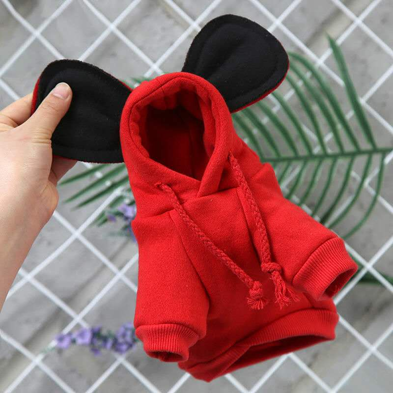 Mickey Hoodies Cat Clothes Security Pet Coats Jacket Cute Puppy Kitten Minnie Little Cat Outfit Chihuahua Yorkshire Clothing 2XL 9