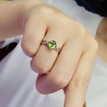 Tsavorite Ring Fine Jewelry Real 18 K Gold Jewelry Natural Unheat 1.3ct Tsavorite Gemstones Tsavorites Female Wedding Rings 6