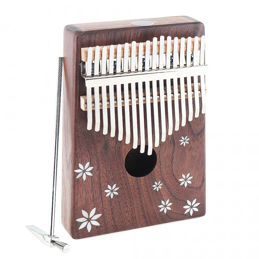 17 chave mini kalimba acacia madeira polegar