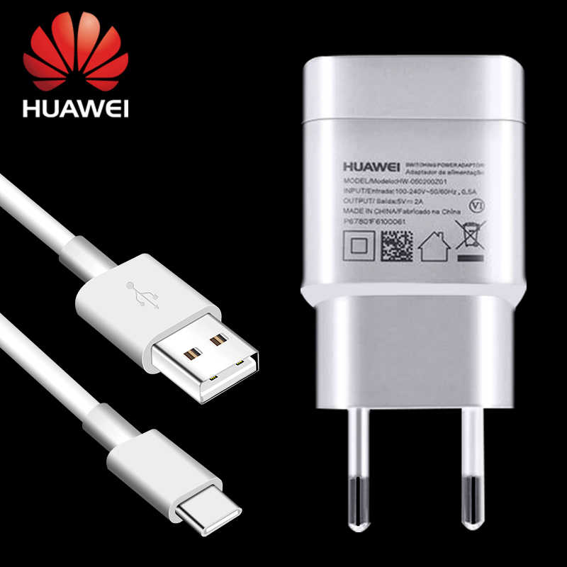 Huawei P10 P20 Pro lite P9 Plus Charger Adapter Travel Wall 5V2A USB C Type C Pro C Type-c Cable Nova 3e 4 5 3i 2 mate9 mate10