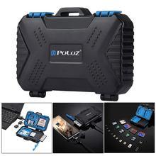 PULUZ считыватель карт памяти USB 3,0 SD CF TF считыватель с OTG Fuction и 21 слотом Водонепроницаемый SD CF TF SIM чехол держатель для стола