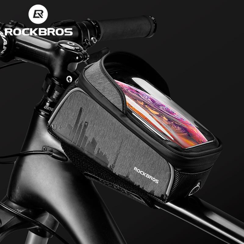 ROCKBROS Cycling Bike Bicycle Top Front Tube Bag Waterproof Frame Bag Big Capacity MTB Bicycle Pannier Case Bike Accessories 1