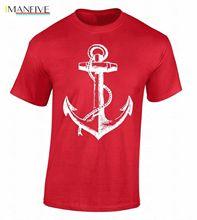Tshirt Brand 2019 Short Sleeve Anchor T-shirt Sailor Nautical Ship  Sea Beach sailer Pirate Cool Shirt