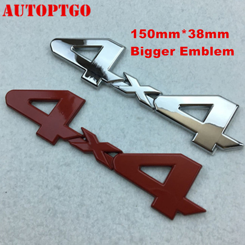 CHROME 4 X 4 LIMITED LETTER OFFROAD TAILGATE DOOR BODY TRUNK LOGO BADGE SET