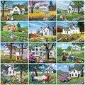 MomoArt 5D DIY Алмазная вышивка дом Алмазная мозаика ферма алмазная картина пейзаж картины стразами полная выкладка подарок ручной работы
