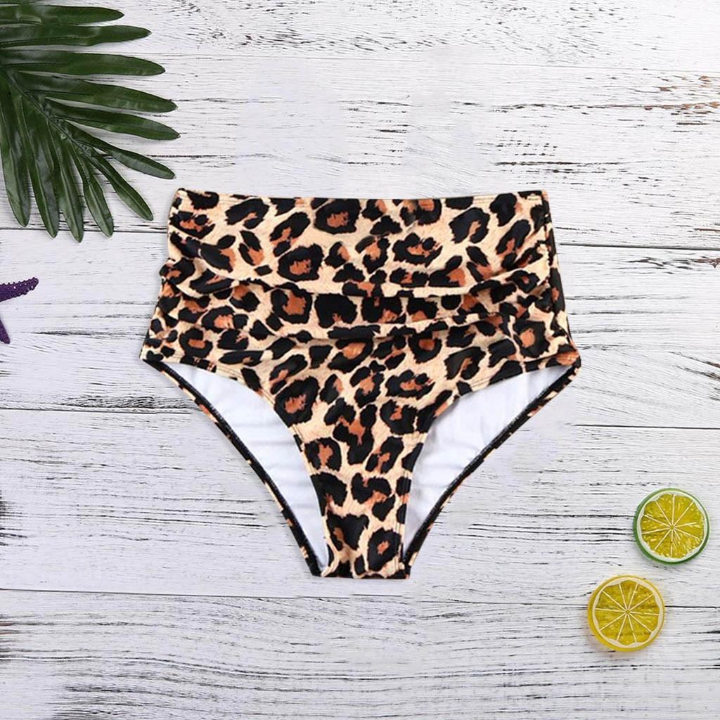 Women High Waist Swimwear 2019 Leopard Print Bikinis Swimsuit Black Swimwear Bathing Suit Biquini Maillot De Bain Femme A01