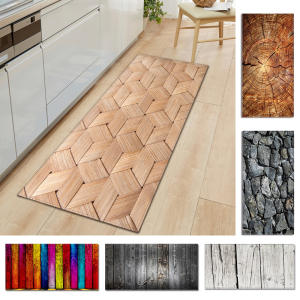 Carpet-Mat Non-Slip Kitchen Entrance-Decoration Wood-Grain-Printed Living-Room for 1pc