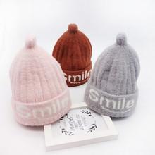 Czapka dla niemowląt czapka zimowa dla dziewczynek czapka sztuczna futrzana kulka czapki dla niemowląt czapki dla niemowląt czapki z wełny czapki z dzianiny dla dzieci czapki dla dzieci tanie tanio MUQGEW COTTON Poliester Baby Hat Unisex 7-9 miesięcy 10-12 miesięcy 13-18 miesięcy 19-24 miesięcy List Wyposażone