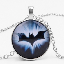 2019 NEW Batman Superman Necklace Chain Miner Hero Glass Convex Necklace. Private Customized Pictures
