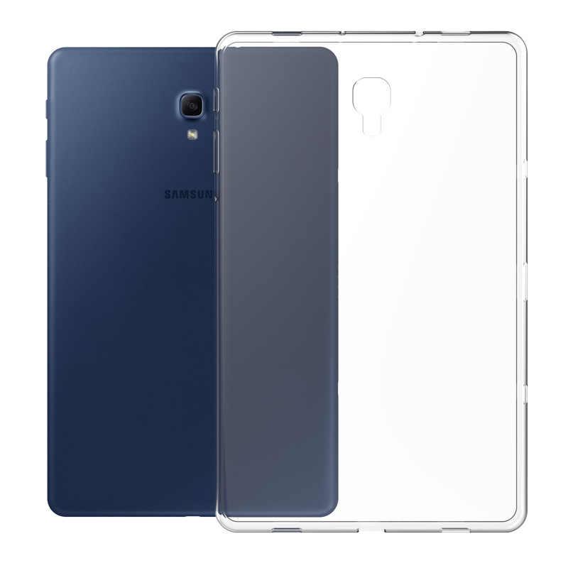 Transparan TPU Silikon Case untuk Samsung Galaxy Tab S2 S3 S4 S5e Tab 8.0 10.1 2019 T387 P200 T710 t810 T510 T590 T830 T720