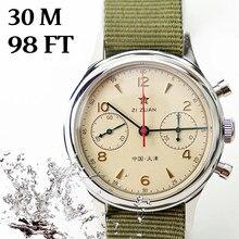 Relógios homens movimento gaivota 1963 relógio safira cronógrafo mecânico à prova dstágua st1901 38mm 40mm relógio para homem montre homme