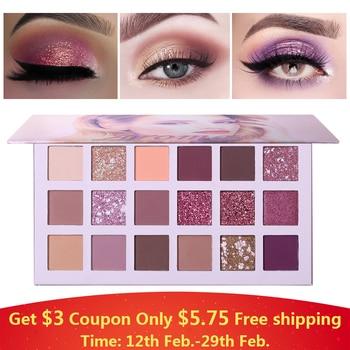 Ucanbe Nude Palette Aromas 18 Colors Matte Glitter Eyeshadow Natural Radiant Shine Eye Shadow Pigment Long Lasting Rose Makeup
