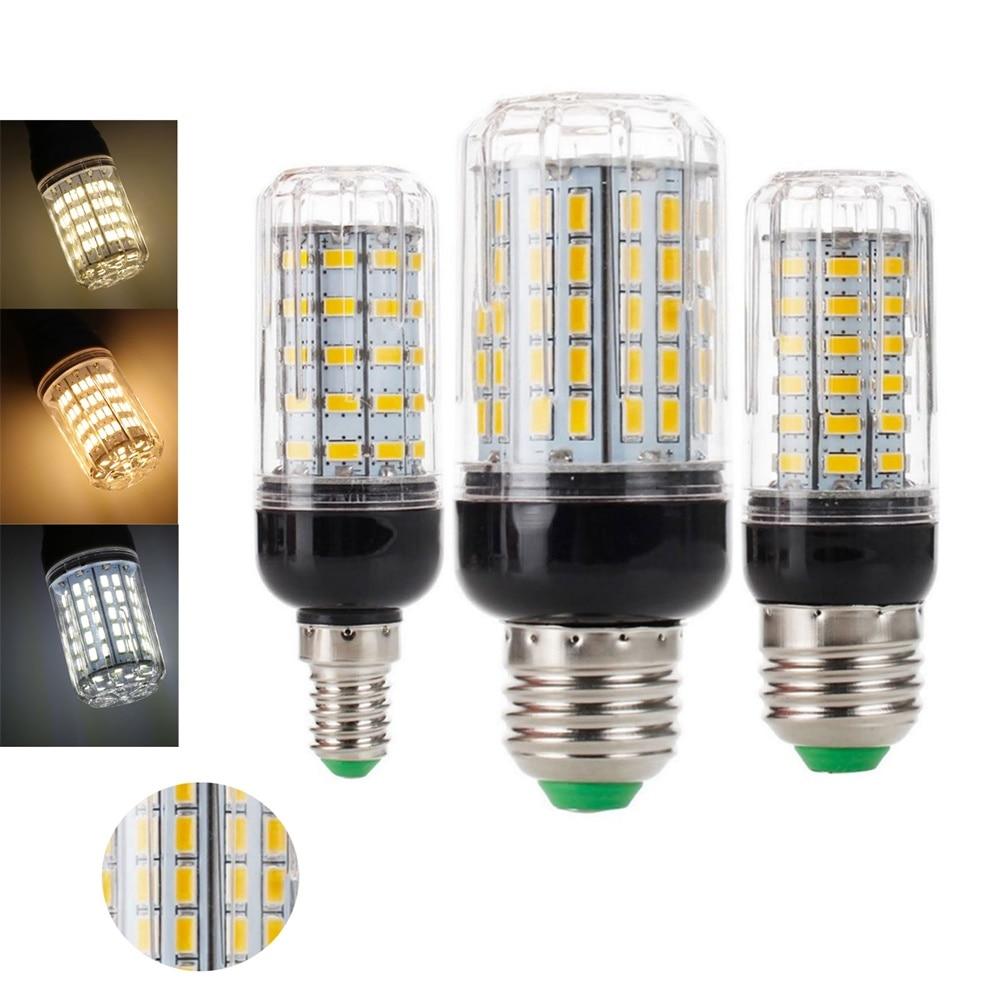 10pcs LED Corn Lamp E27 E14 24 27 30 36 56 59 69 72 96 108LEDs SMD 5730 Corn Bulb AC 220V Chandelier LEDs Candle Light Spotlight