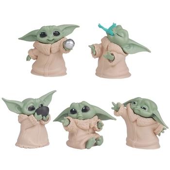 Gorące gwiezdne wojny dziecko Yoda zabawki figurki akcji 5-6cm gwiezdne wojny Yoda dziecięce zabawkowe figurki z Anime Yoda dzieci świąteczne prezenty dla dzieci tanie i dobre opinie Disney CN (pochodzenie) Zwierzę kreskówkowe Ślub i Zaręczyny przyjęcie urodzinowe Na Dzień Dziecka Powrót do szkoły