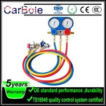 Carbole R134a Auto Manifold Guage Set Kit with Couplers Gause Adapters R134 R22 R404A R410A Refrigeration Charging Service