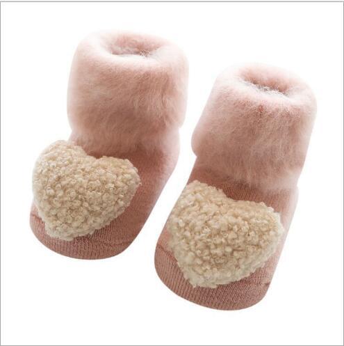 Winter New Plus Velvet Thick Baby Socks Warm Children Socks Plastic Non-slip Baby Floor Socks Accessories Socks