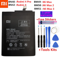 Original Battery BN40 BN42 BM49 BM50 BM51 For Xiaomi Redmi 4 Pro Prime 3G RAM 32G ROM Edition Redrice 4 Redmi4 Mi Max Max2 Max3|Mobile Phone Batteries| |  -