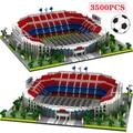 FAI DA TE 3D Building Block Blocchi di Diamante di Architettura Famosa di Calcio Campo di Calcio di Calcio Camp Nou Segnale Lduna Parco Giocattoli Del Capretto